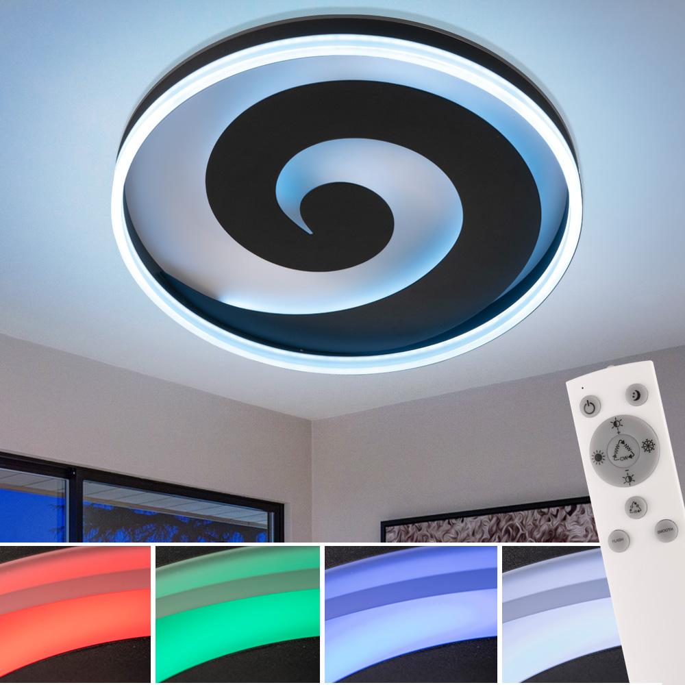 RGB LED Decken Leuchte FERNBEDIENUNG Wohn Zimmer Tages Licht Lampe DIMMBAR  Fischer Leuchten 20   ETC Shop