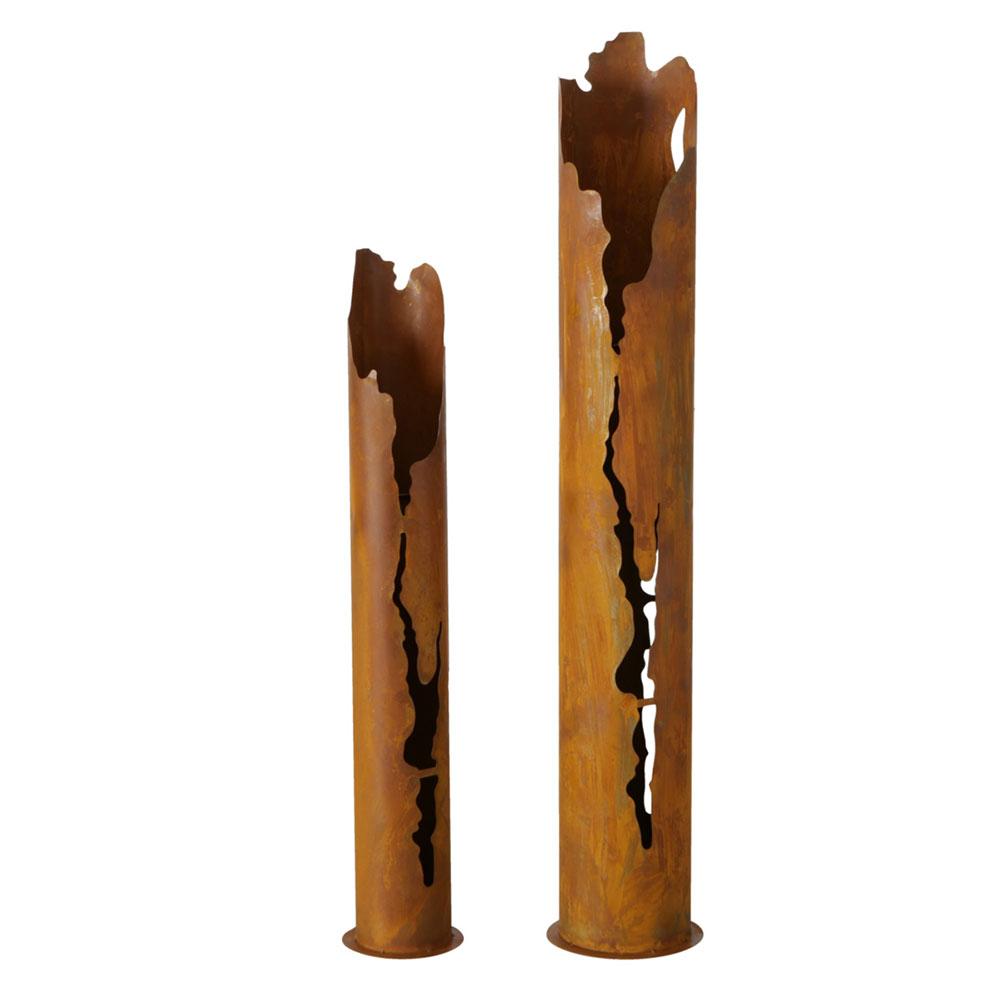 Gartendekoration - 2x Pflanztopf, Stand, braun, Patina, H 100 130,5 cm  - Onlineshop ETC Shop