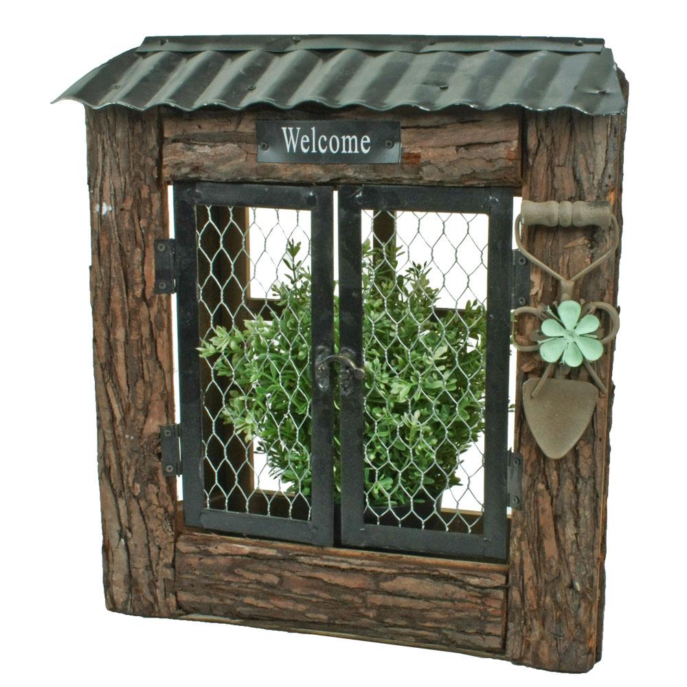 Gartendekoration - Blumenkasten, Holz, Welcome Schriftzug, H 38 cm  - Onlineshop ETC Shop