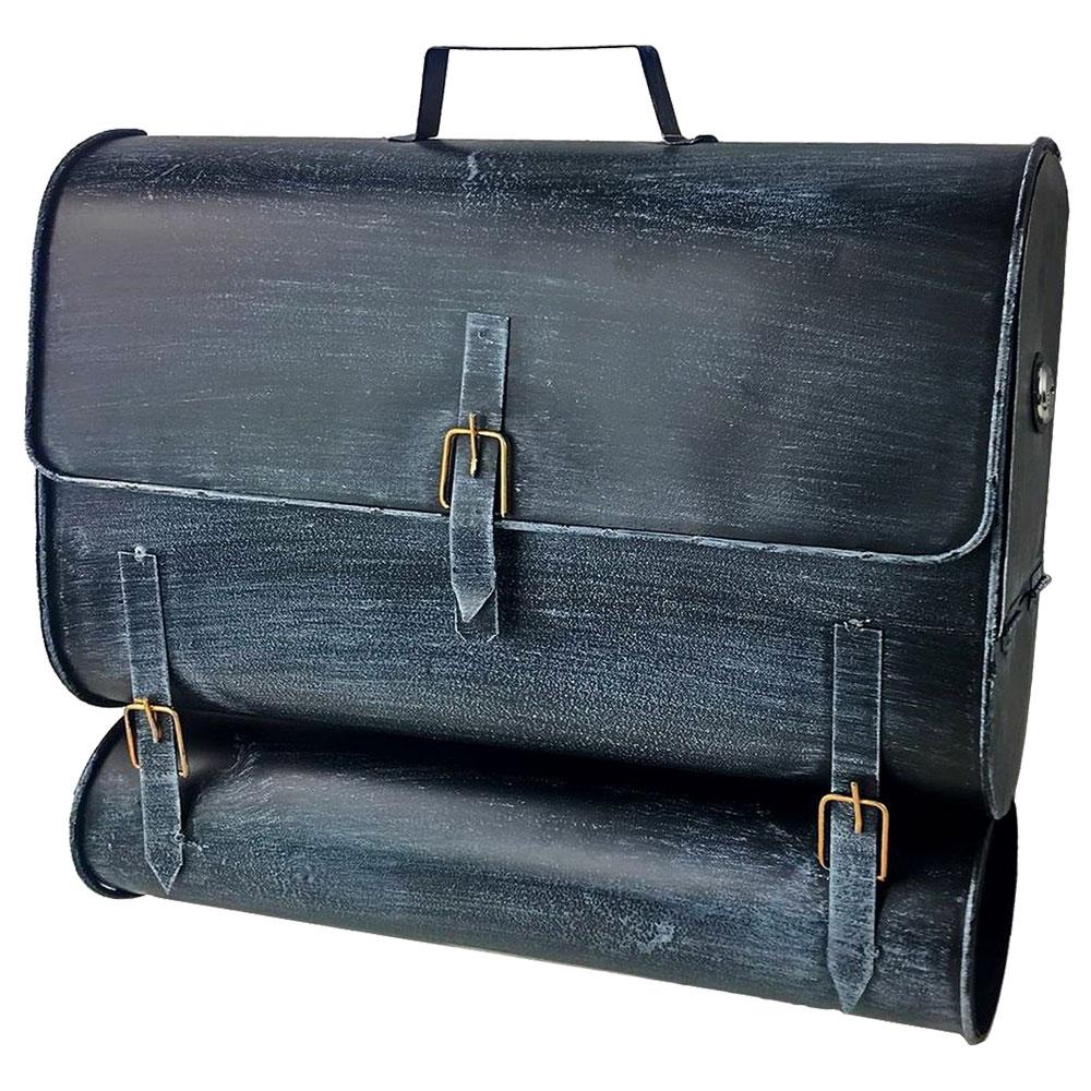 Gartendekoration - Briefkasten, Schultaschen Design, schwarz blau H 38,5 cm  - Onlineshop ETC Shop
