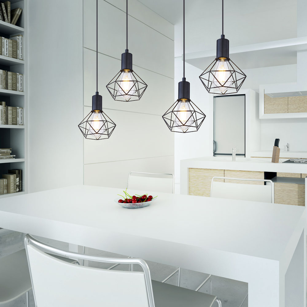 Ceiling hanging lamp Industrial pendant light dining table rail ...