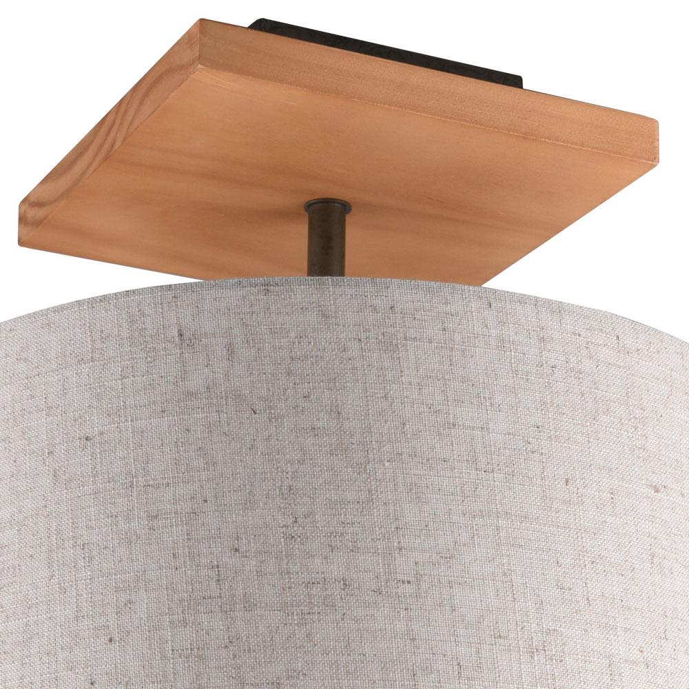 [Paket] RGB LED Tischleuchte, Textil, Holz, weiß, H 9 cm