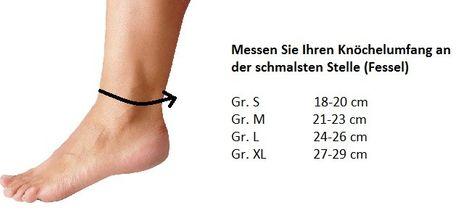 TURBO Med Fußbandage Knöchel-Stütze Arthrose Verstauchung Rheuma – Bild 4