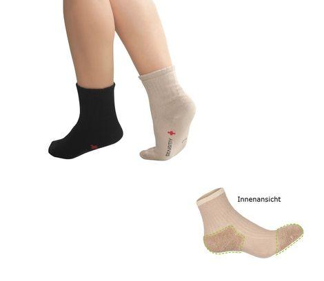 FußGut Diabetiker Socken sensitiv Gesundheitssocken mit Zehen + Fersenpolsterung
