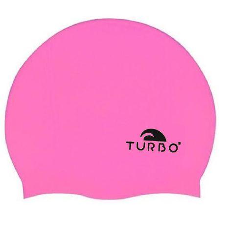 TURBO Badekappe pink einfarbig aus Silikon