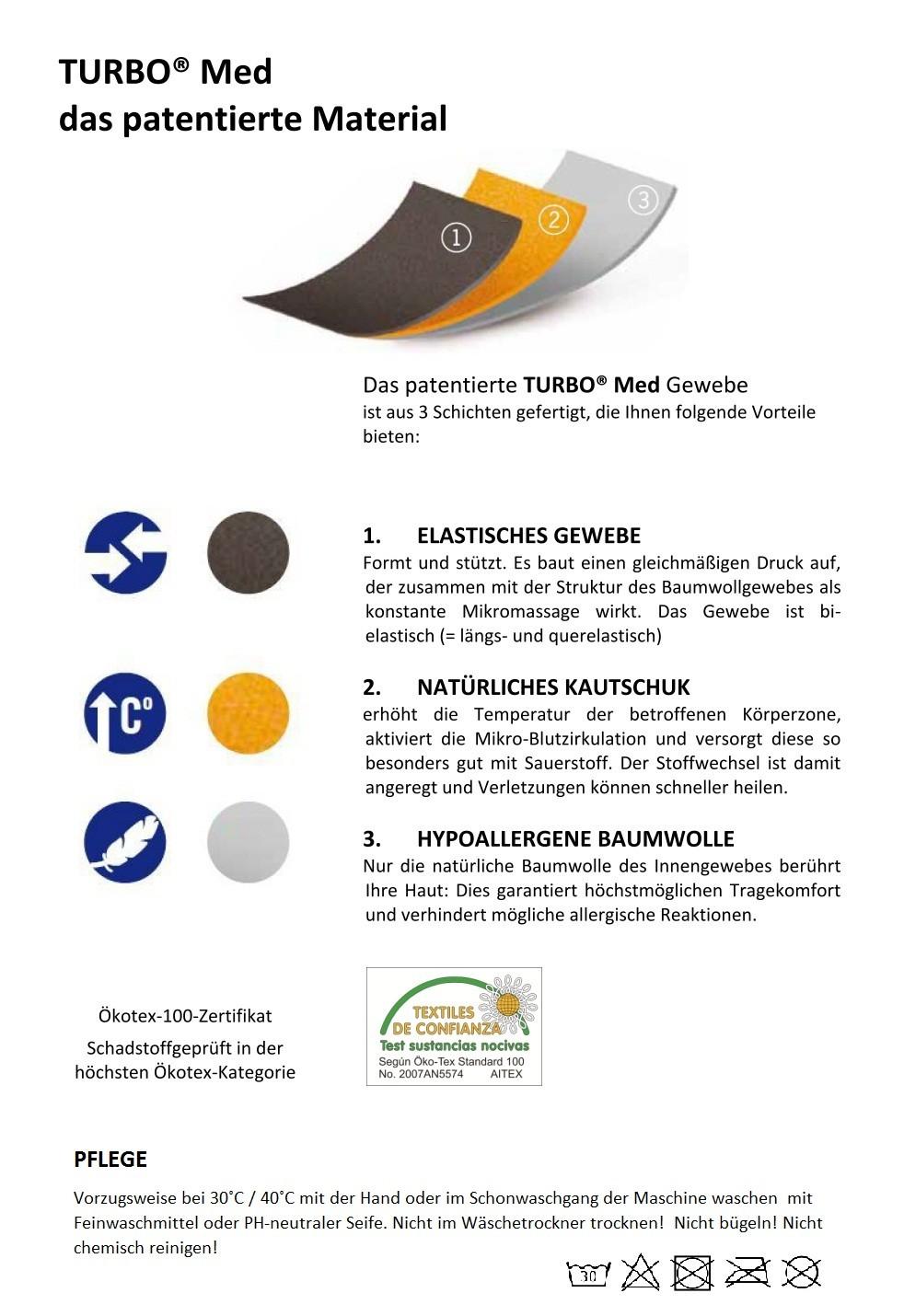 Sonstige Krafttraining-Produkte Fitness & Jogging TURBO Handgelenkbandage 855 inkl Daumenloch Handgelenksbandage