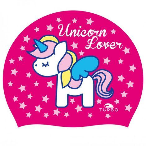 TURBO Badekappe UNICORN LOVER pink aus Silikon