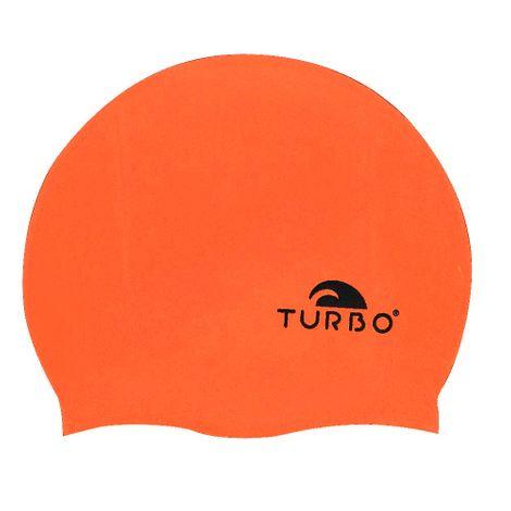 TURBO Badekappe Orange einfarbig uni aus Silikon