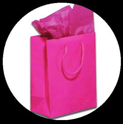 Papiertragetaschen als Geschenktaschen