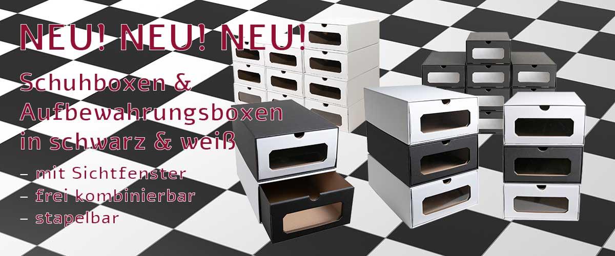 Schuhboxen & Aufbewahrungsboxen schwarz weiß