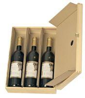 Einlagen für Holzkisten postgeprüft für 3 Flaschen 20 Stück