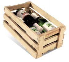Holzsteigen für 6 Flaschen 0,25 ltr.