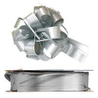 Geschenkschleife Ziehschleife Country silber 25 mm x 40 m