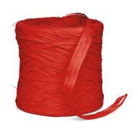 Geschenkbast Raphia Synthetik Rot 200 m x 10 mm