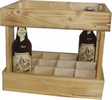 Holzkiste Nostalgie natur, für 12 Flaschen, 1 Stück