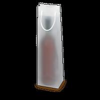Tragetüte Frost Transparent Matt für 1 Flasche, 10 Stück