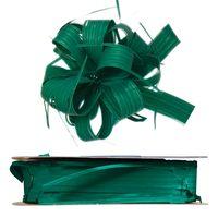 Geschenkschleife Ziehschleife Country dunkelgrün 25 mm x 40 m