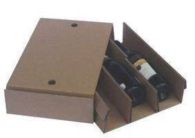 Einlage für Weinversandkarton Vario für 3 Flaschen, 20 Stück