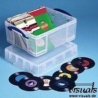 Really Useful Box 7¨ Vinyl-Single-Box medium 18 Liter XL