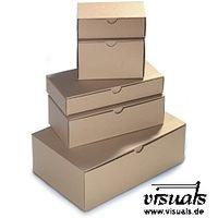 Klappdeckelbox 230x120x40 mm Innenmaß braun 50 Stück