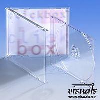 CD-Tray glasklar passend zu Jewelbox Leerhülle + Multibox 100 Stück