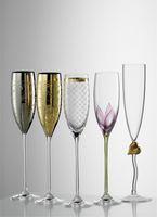 Eisch Champagner Exkl., Sektglas 500/73, Design: Tulpe - 2 St. im GK – Bild 2