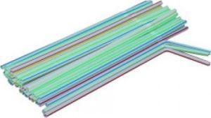 Trinkhalme Flexi gestreift 24 cm VE 10.000 Stück