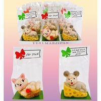 Marzipanfiguren Katz und Maus VE 12 Stück Edelmarzipan je Stück 60 g