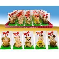 Marzipanfiguren Tiere in Präsenttüte 5-fach sort. VE 20 x Edelmarzipan