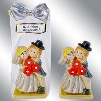 Marzipan Figur Brautpaar Tortendeko zur Silberhochzeit VE 6 Stück