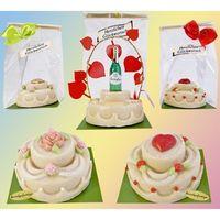 Marzipan Glückwunsch-Torten VE 6 Stück Edelmarzipan je Stück 135 g