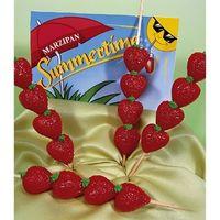Marzipan Erdbeerspieß VE 12 Stück Edelmarzipan je Stück 40 g