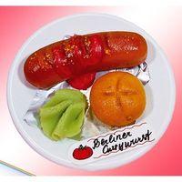 Marzipan Berliner Currywurst VE 6 Stück Edelmarzipan je Stück 70 g