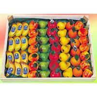 Marzipanobst 90/10er Edelmarzipan-Obst mit Blatt VE 54 je Stück 35 g