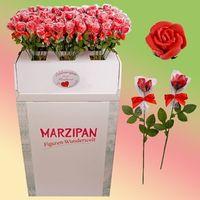 Marzipanrosen -Rote Rose Amore- in GV - Bodenaufsteller VE 120 Stück Edelmarzipan je Stück 45 g
