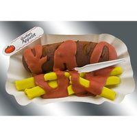 Marzipan Currywurst mit Pommes VE 12 Stück Edelmarzipan150 g/St.