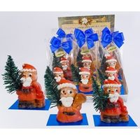Marzipanfiguren Santa Claus mit Tanne blue-design VE 12 je Stück 25 g