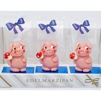 Marzipanfigur Schwein mit Pilz blue line VE 15 St Edelmarzipan je 18 g