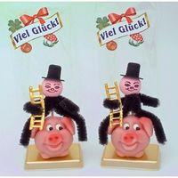 Marzipan Glücks Schwein mit Aufsteckschlotfeger VE 12 Stück je 30 g