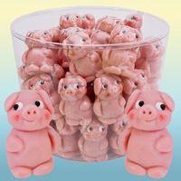 Marzipan Schweine stehend in Klarsichtdose VE 30 Stück á 18 g