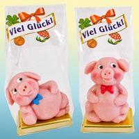 Marzipan Schweine Dick & Faul VE 12 Stück je 50 g