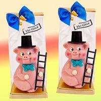 Marzipanfigur Dickes Schwein als Schlotfeger VE 6 Stück je 230 g
