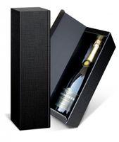 Struktura schwarz Präsentkarton Magnum Sekt für 1 Flasche 50 Stück