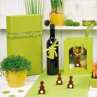 Weinverpackung Präsentkarton Modern Welle Limette 3er 25 Stck – Bild 6