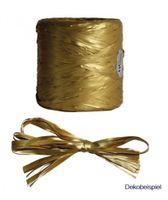 Geschenkbast Raphia gold, à 200 m x 7 mm