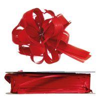 Geschenkschleife Ziehschleife Country rot 25 mm x 40 m