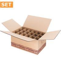Flaschenversandkartons Flaschenverpackung Wein 18er DHL/PTZ 15 Stück