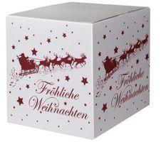 Versandkartons Weihnachtsschlitten 300x300x300mm weiß VE 10 Stück