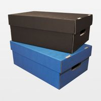 Aufbewahrungsbox aus Karton 315 x 225 x 110 mm blau 25 Stück