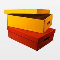 Stapelbarer Lagerkarton 398 x 297 x 185 mm rot 25 Stück